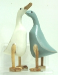 Ducks, Standing, Painted, Pair