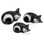 Sleeping Cats,  set of 3.