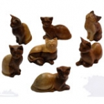 Natural Cats 10cm.    set of 5