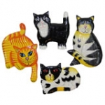 Cat Fridge Magnets.   pack of 10
