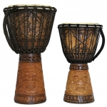 Carved Djembe Drum  15cm