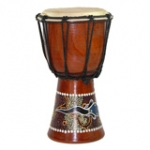 Painted Djembe Drums  40cm