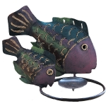 2 Fish Candle Holder.